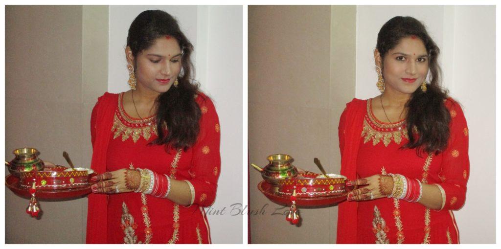 Karwachauth outfit ideas red kurta set