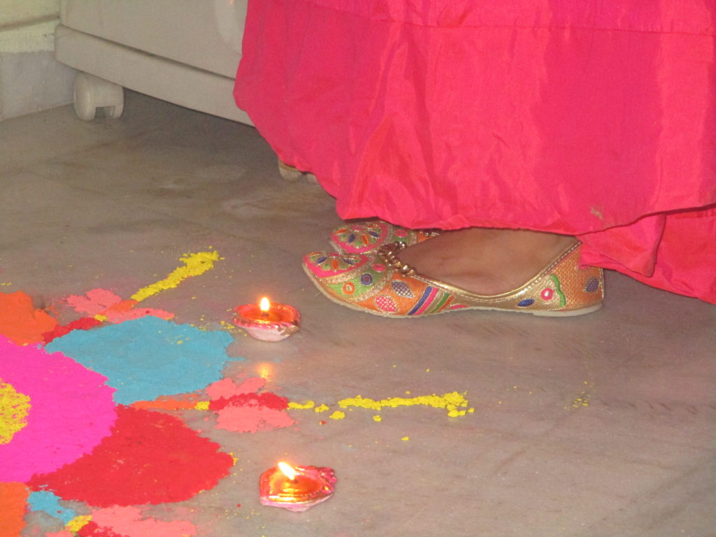 Diwali outfit ethnic juttis with ghungroo