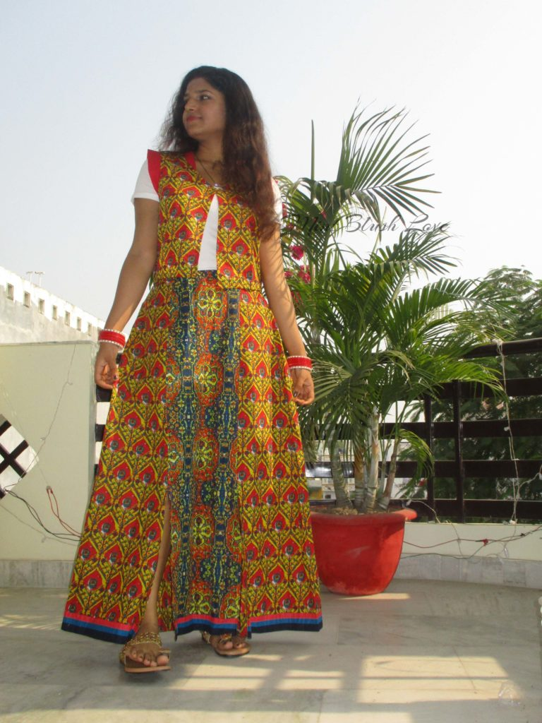 diwali festive outfit maxi skirt with ethnic jacket