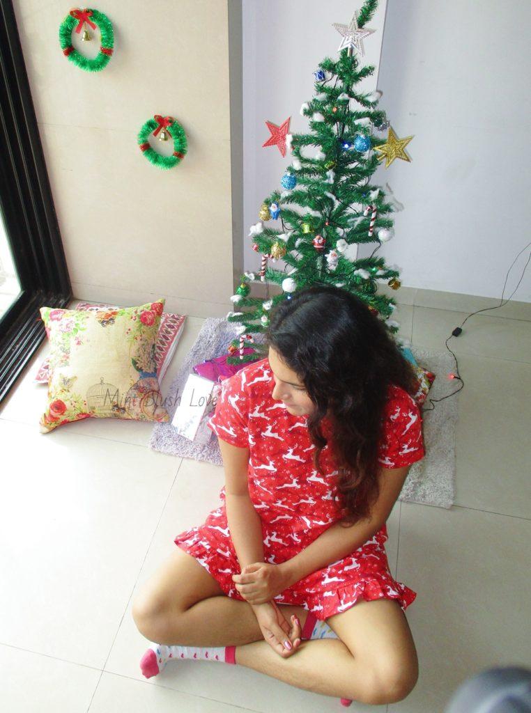 christmas jammies lounge wear short nightdress