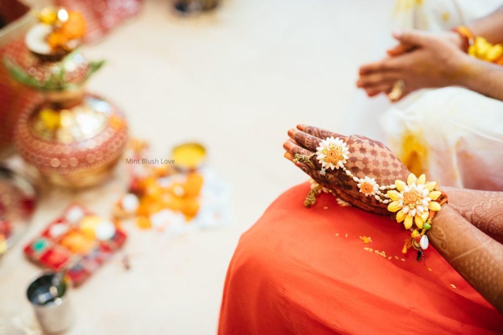 Mint blush love haldi, haldi outfit ideas, haldi decor, Indian wedding, Haldi ceremony, Floral hathphool