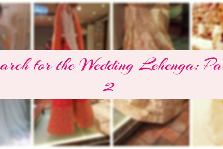 Search for the wedding lehenga