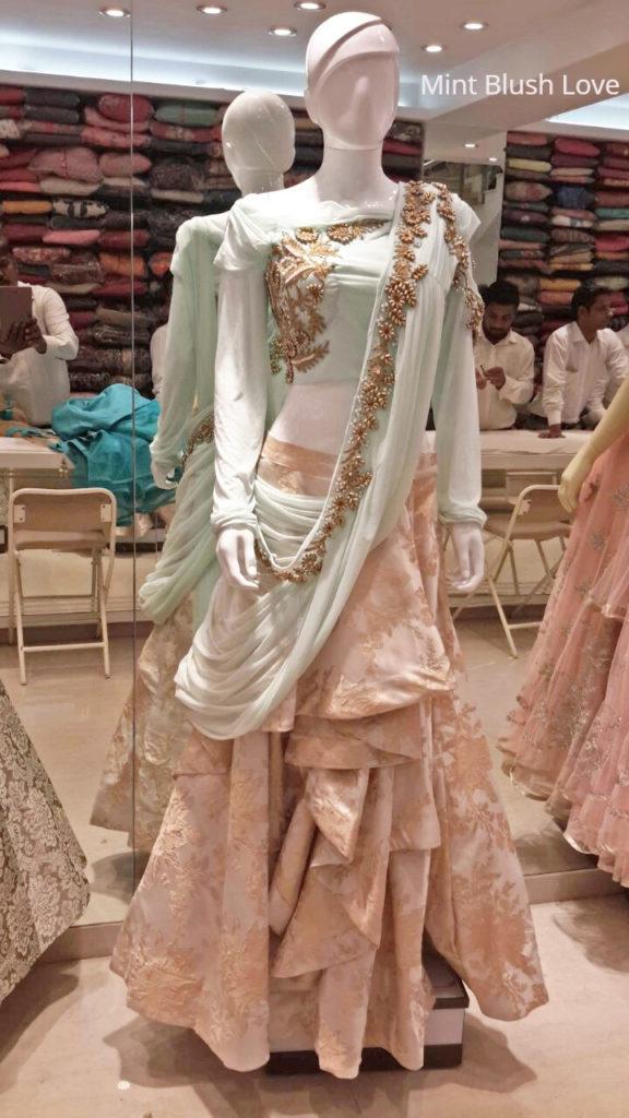 Gaurav gupta lehenga replica, Mumbai wedding lehenga shopping