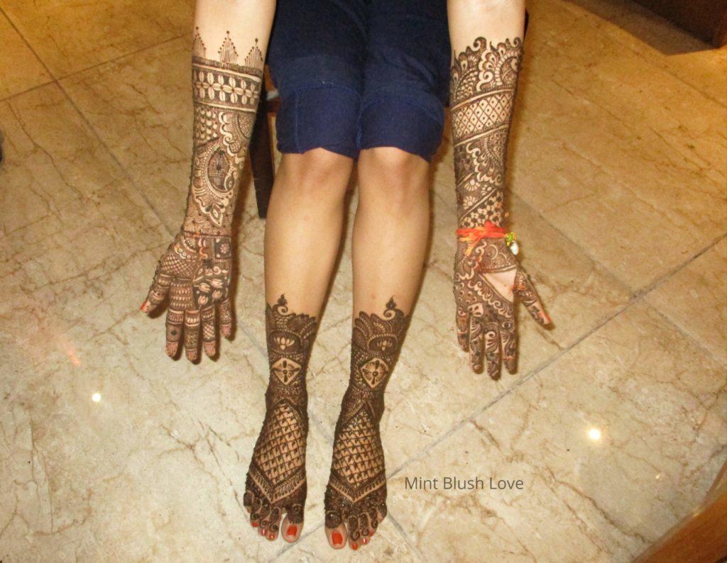Mehendi design, henna  design, Indian bride