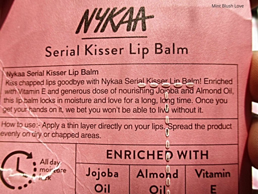 Nykaa serial kisser lip balm review