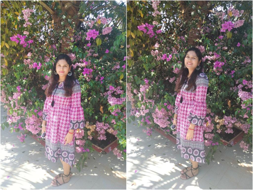 bohemian dress ootd, pritnted dress